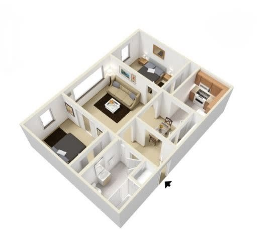 Sellwood Floorplan at Russellville Commons, Portland, OR, 97216