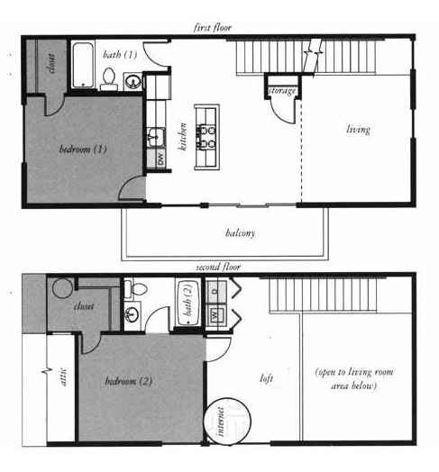Glenn Jackson Townhome Floorplan at Russellville Commons, Portland, OR, 97216