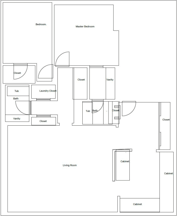 Floorplan at Russellville Commons, Portland, OR, 97216