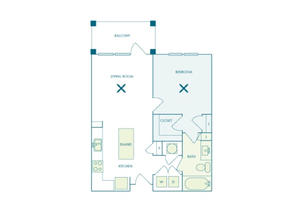 Nona Park Village - A1 - Foxtail - 1 bedroom - 1 bath