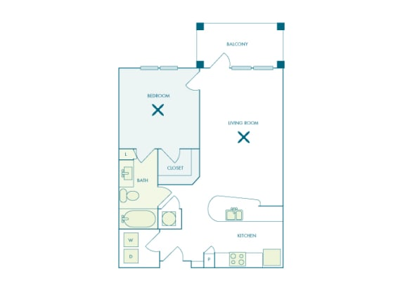 Nona Park Village - A4 - Gardenia - 1 bedroom - 1 bath