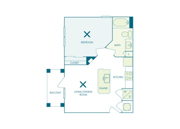 Nona Park Village - A - Anise - 1 bedroom - 1 bath