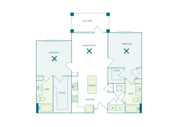 Nona Park Village - B1 (Iris) - 2 bedroom - 2 bath