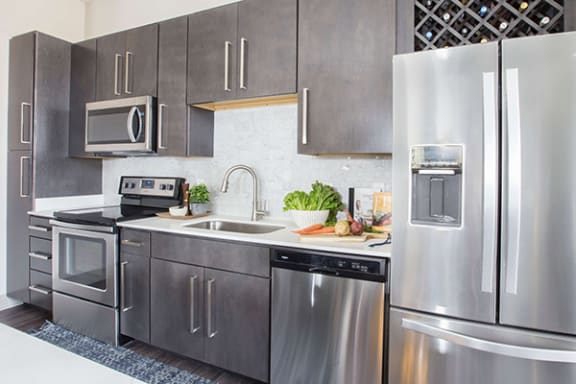 Contemporary Stainless Steel Appliances at Avant Apartments, Carmel 46032