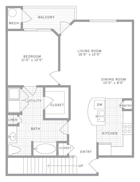 A2 Loft Floor Plan at AVE Union, Union, NJ