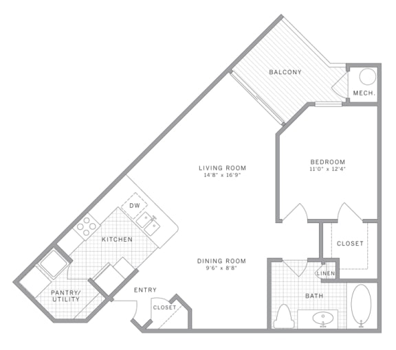 Floor Plan  A3 Floor Plan at AVE Union, Union, New Jersey