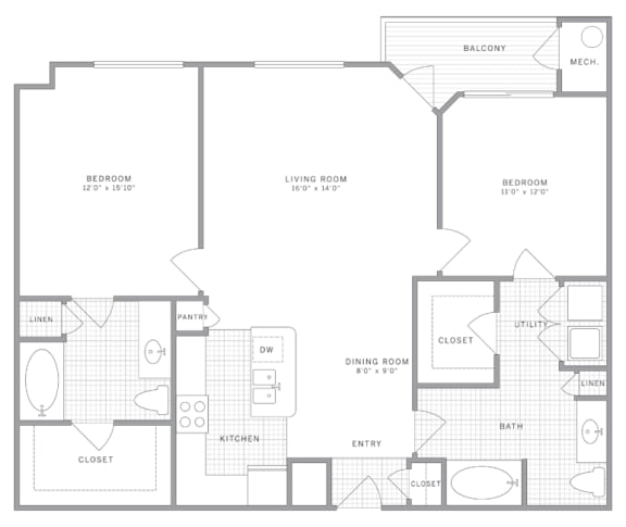 B4 Floor Plan at AVE Union, Union, New Jersey
