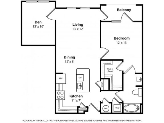 Floor Plan  Floorplan at The Ridgewood by Windsor, 4211 Ridge Top Road, 22030