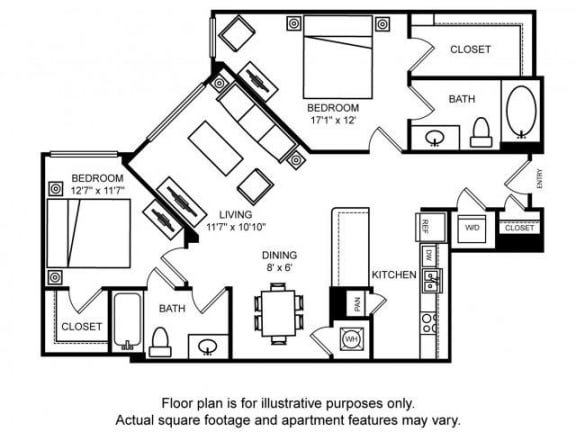Floor Plan  Floorplan at The Ridgewood by Windsor, Fairfax, VA 22030