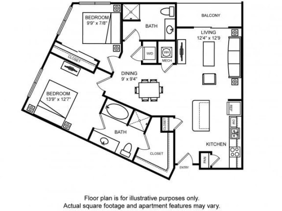Floor Plan  Floorplan at The Ridgewood by Windsor, 4211 Ridge Top Road, Fairfax