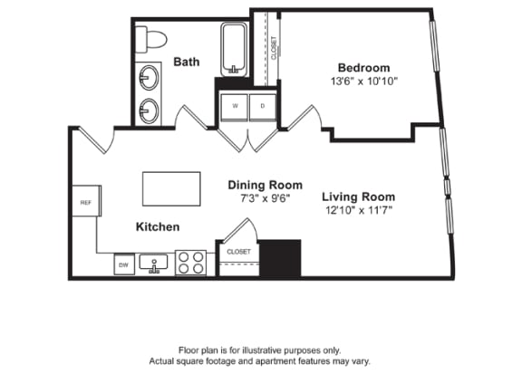 Floor Plan  Floorplan at Cirrus, Washington 98121