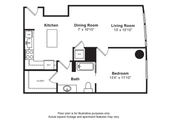 Floorplan at Cirrus, Seattle, WA 98121