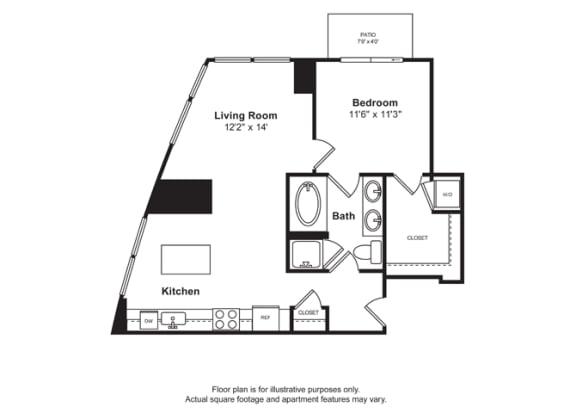 Floor Plan  Floorplan at Cirrus, Seattle
