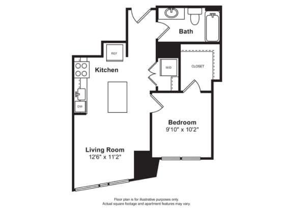 Floor Plan  Floorplan at Cirrus, Washington, opens a dialog