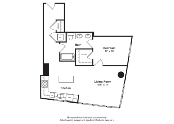Floor Plan  Floorplan at Cirrus, Seattle 98121