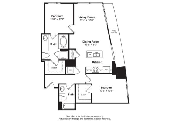 Floor Plan  Floorplan at Cirrus, Seattle, opens a dialog