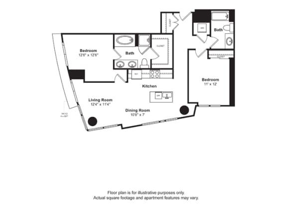 Floor Plan  Floorplan at Cirrus, Seattle, WA 98121