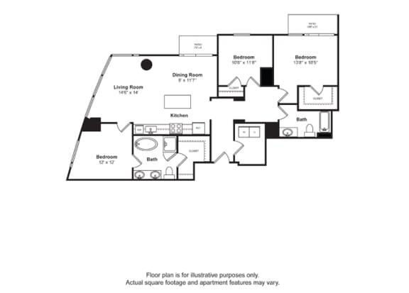 Floor Plan  Floorplan at Cirrus, WA 98121