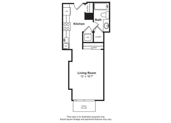 Floor Plan  Floorplan at Cirrus, Seattle, Washington