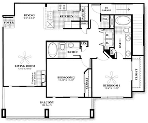 D6.2 Floor Plan at San Marin, Austin, Texas