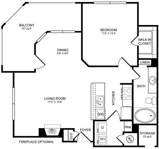A3 Floor Plan at San Marin, Austin, Texas