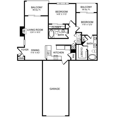 D6.1 Floor Plan at San Marin, Austin, TX, 78759