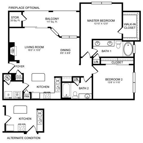 D7 Floor Plan at San Marin, Austin, TX