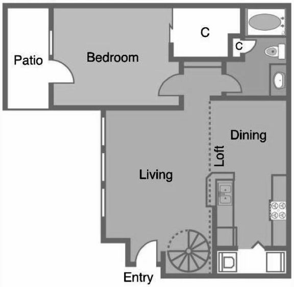 A4 R Floor Plan at Greenbriar Park, Houston, Texas