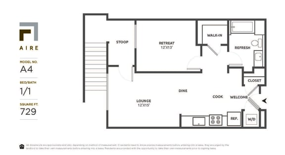 A4 Floor Plan at Aire, California