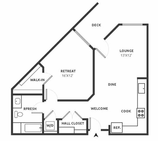 A10 Floor Plan at Aire, San Jose, CA, 95134
