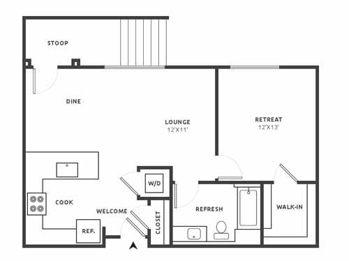 A11 Floor Plan at Aire, San Jose, CA