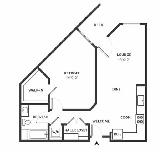 A14 Floor Plan at Aire, San Jose, 95134