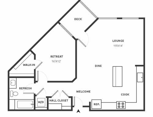 A25 Floor Plan at Aire, San Jose
