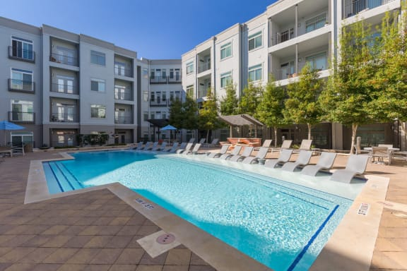 Sparkling Swimming Pool at Eleven by Windsor, Texas, 77002