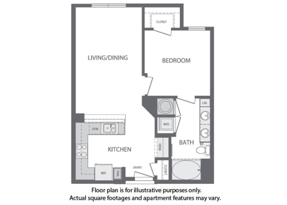 Floor Plan  B - 1 Bedroom 1 Bath Floorplan at Windsor at Cambridge Park, Cambridge, MA