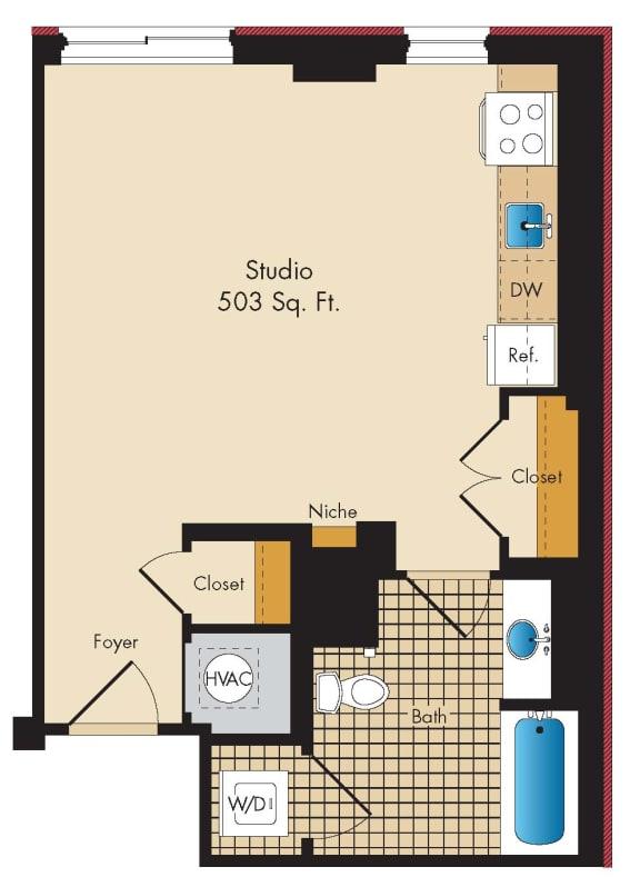 Floor Plan  Studio A6