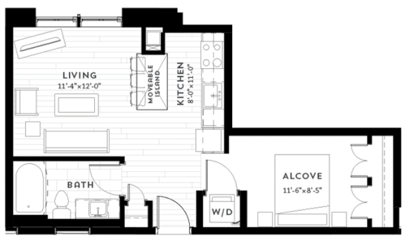 Floor Plan  A5 Floor plan at Custom House, St. Paul, 55101