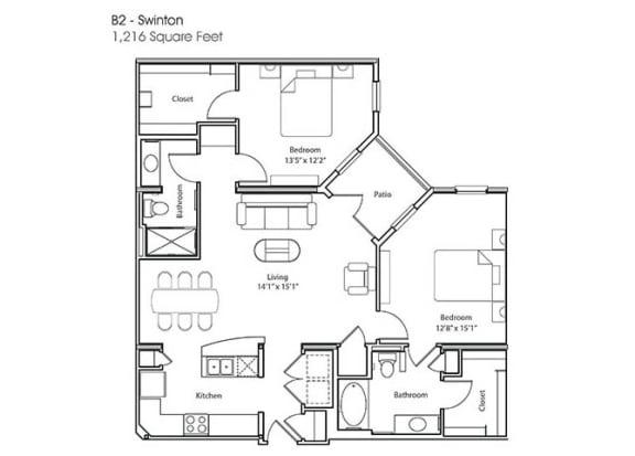Floor Plan  B2-Swinton