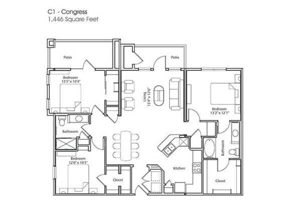 Floor Plan  C1-Congress