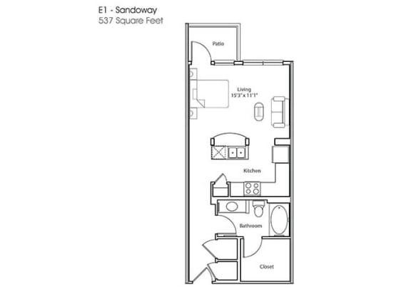 Floor Plan  E1-Sandoway