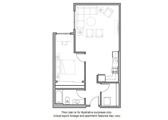 Floor Plan  A24 Floor Plan at The Whittaker
