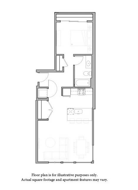 O1 Floor Plan at The Whittaker
