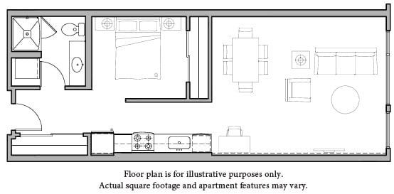 Floor Plan  Floorplan at The Whittaker, Washington 98116