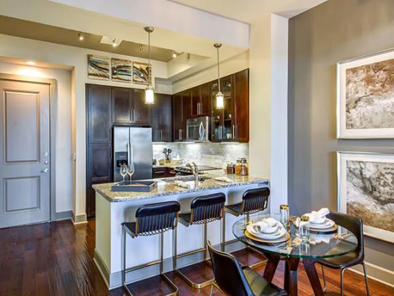 Gourmet Kitchen With Islands at ALARA Uptown, Dallas, TX, 75204