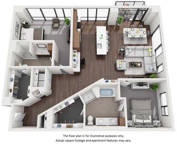 Floor Plan  Floor Plan at 1000 Speer by Windsor