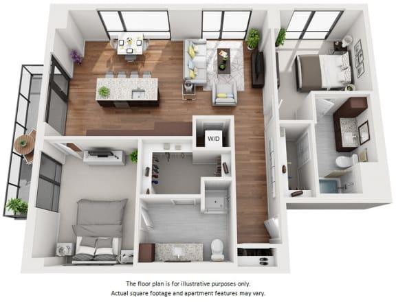 Floor Plan  1 bedroom apartment floor plan