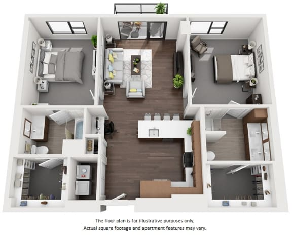 3 bedroom apartments at 1000 Speer by Windsor
