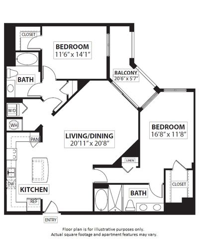 Floor Plan  Floorplan at Windsor at Doral,4401 NW 87th Avenue, Miami,FL 33178, opens a dialog