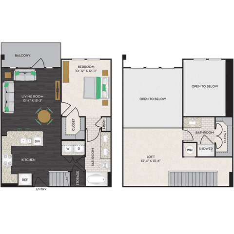 Floor Plan  Floorplan at Midtown Houston by Windsor, Houston