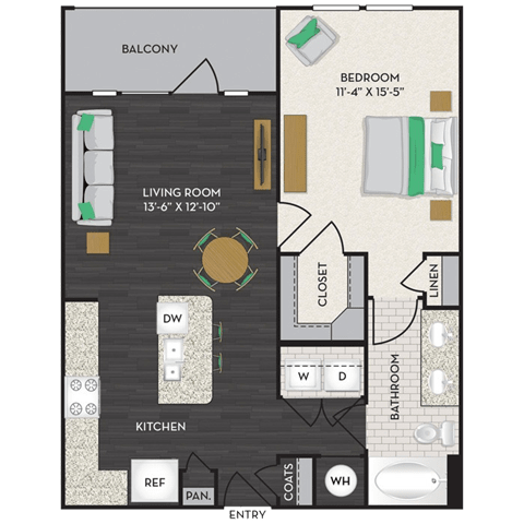 Floor Plan  Floorplan at Midtown Houston by Windsor, Houston, TX